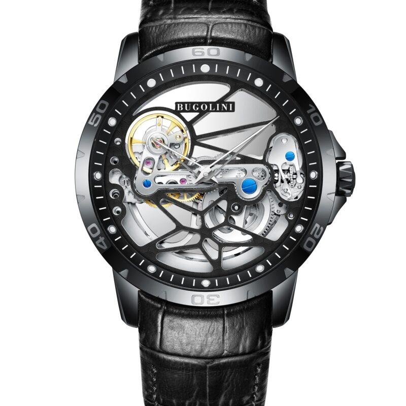 luxury Black Steel Watch